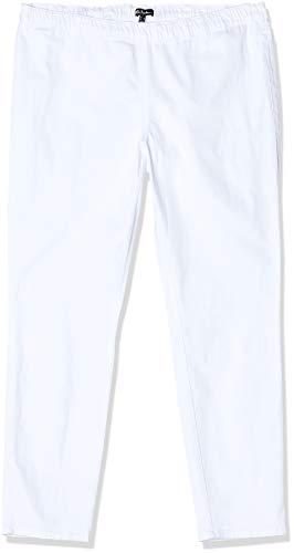 Ulla Popken Damen Jeggings m. Gürtelschlaufen Slim Jeans, Weiß, 56