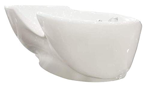 LOVECRAZY - Lavabo Desmontable para Lavacabezas de Peluquería, Lavabo Recambio para Lavacabezas de Peluquería, Modelo General (Blanco)
