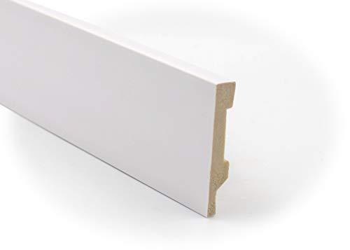 Zócalo - Rodapié Blanco de PVC hidrófugo, 8cm de alto y 220cm largo