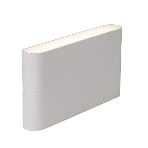 AEG buitenwandlamp, 2 lampen, aluminium, 6 W, wit