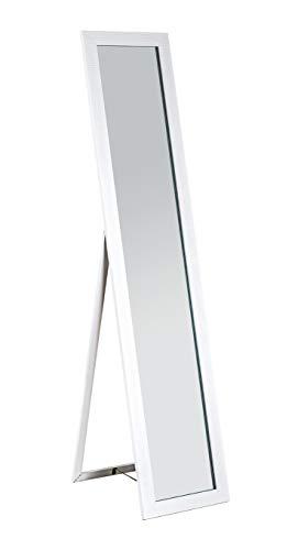 HAKU Möbel Standspiegel, Kunststoff, weiß, 47 x 34 x 156 cm