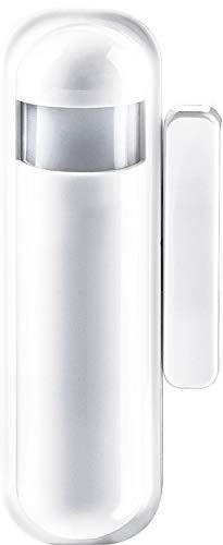 SCHWAIGER -ZHS10- 4 in 1 Tür- Fenstersensor/ Bewegungsmelder/ Temperatursensor/ Helligkeitssensor/ Alarm/ Z-Wave/ Smart Home/ Steuerung per App/ Sprachsteuerung mit Alexa, Google