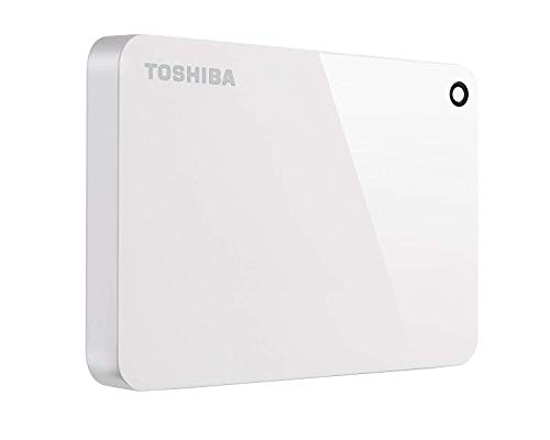 Toshiba Canvio Advance 2TB Portable External Hard Drive USB 3.0, White (HDTC920XW3AA)