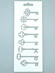 Art Life Schablone, Schlüssel, 10 x 25 cm, Stencil