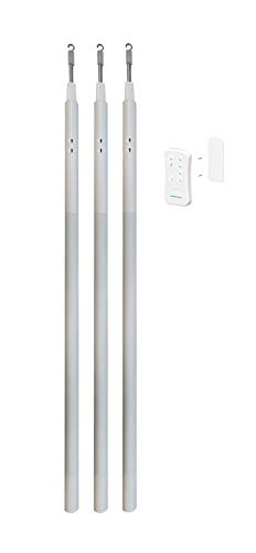 Current Products Corp. E-Wand Starter Kit- White (3 E Wands and 1 Remote) to Motorize and Automate Existing Blinds- Retrofit Motorized Blinds