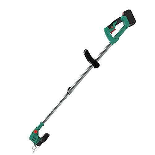 XRHM 36V6000MAH Portátil, Recargable Cortadora de césped eléctrica de malezas sin Cable, Herramienta de jardinería eléctrica de Tipo Push Green-One Battery