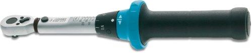 HAZET Drehmoment-Schlüssel (2,5-25 Nm, feine Skaleneinteilung, 4% Genauigkeit in Betätigungsrichtung, 6,3 mm (1/4 Zoll) Vierkantantrieb) 5108-2CT