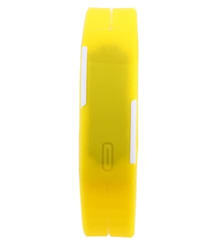 Reloj de pulsera amarillo de estilo deportivo LED para niños y adultos unisex