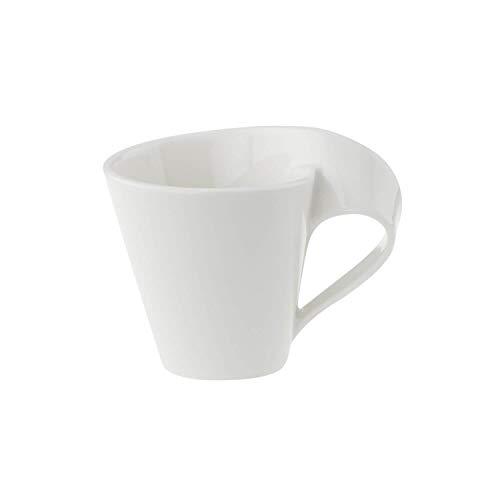Villeroy und Boch NewWave Mokka-/Espressotasse, 80 ml, Premium Porzellan, Weiß