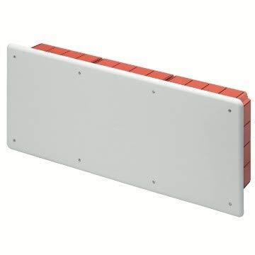 Gewiss Cassetta Scatola di derivazione e connessione per pareti in muratura con guida DIN Dimensioni 516x202x90 Coperchio Bianco RAL9016 GW48010