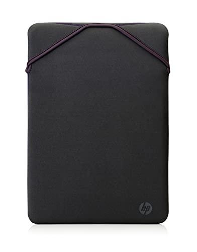 """HP - PC Protective Reversibile Sleeve per Notebook fino a 14"""", design reversibile, Grigio/Malva"""