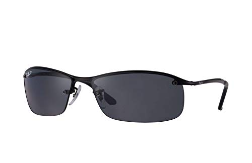 Ray-Ban Men's RB3183 Sunglasses (Black Frame, Solid Black Lens)