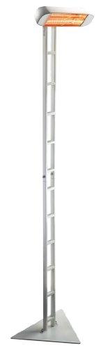 HELIOSA 991 Ständer SCALA KOMPLETT mit Infrarotstrahler 1500 Watt IPX5, aus robustem Aluminium-Druckguss hergestellt und mit thermoplastischen Lacken für den Außenbereich lackiert. Kurzwellen – Heizstrahler für Indoor und Outdoor geeignet, Farbe: Weiß - 3