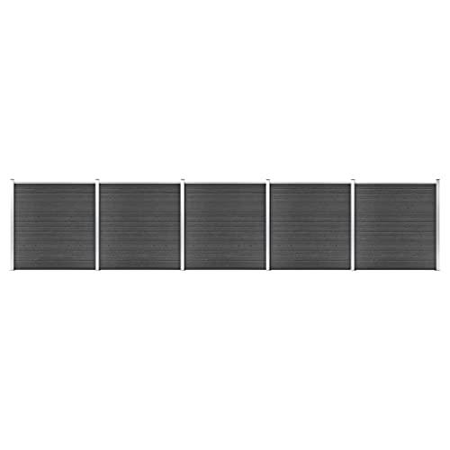 Negro WPC (Compuesto de Madera y plástico), Aluminio,...