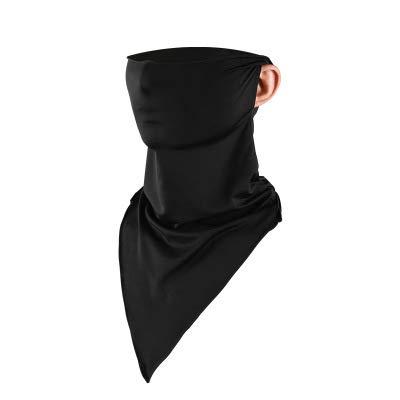 VANVENE - Pañuelo triangular de seda para hombre y mujer, sin costuras, multifunción, para deportes al aire libre
