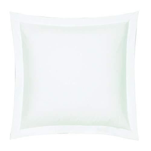 Blanc des Vosges Uni Percale Taie Coton Blanc 65 x 65 cm