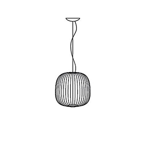 ZIS Replica Foscarini Reli 1/2 Sospesnsion Lampada a Sospensione Bianca Sala da Pranzo Bar Cucina Isola Birdcage Lampada Lampada Italiana (Body Color : Spokes 2, Color : White)