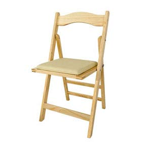 SoBuy FST06-N Chaise pliante en bois avec assise rembourrée, Chaise pliable pour Cuisine, Bureau, etc -Naturel du bois
