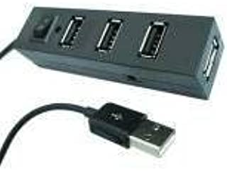 4 Ports USB 2.0 High Speed Power ON//OFF Switch Hub Adapter for Computer Laptop M