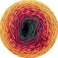 FIL Katia 100g Rainbow Socks - Farbe: 55 - Verlauf: Gelb-Orange-Rot-Grün - 2 identische Knäuel in der Box = 2 identische Socken