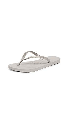 Havaianas Slim Glitter Sandal Steel Grey 39/40 Brazil (US Men's 7/8, Women's 9/10) M