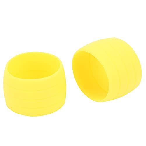Anillo de fijación de correa elástica de silicona para bicicleta, Enchufe de cinta para manillar de bicicleta Barra de extremo de manija de bicicleta Anillo fijo Práctico para bicicletas de(amarillo)