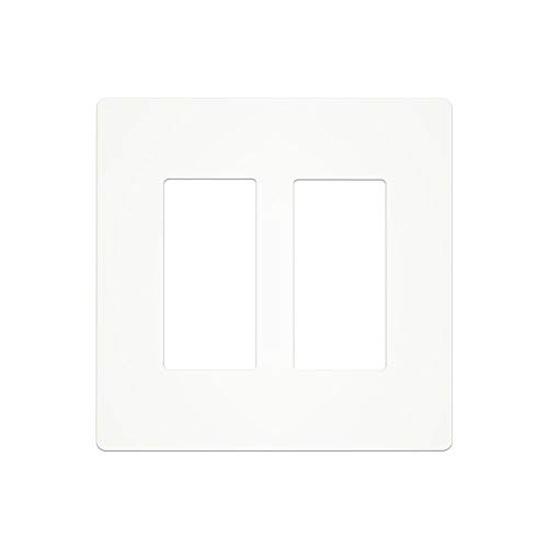 MOES 2 Gang Wall Switch Plate Only compatible with Model WT02S WT03S,Not Compatible with Other Moes Smart Switch.(WT04S(2 Gang Switch Plate))