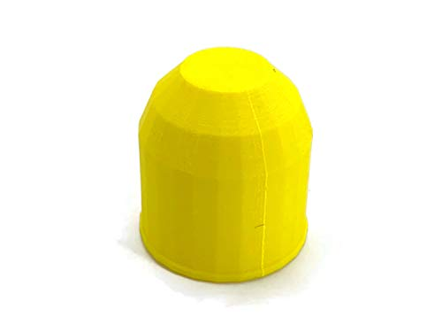 eXODA Anhängerkupplung Abdeckung Kappe für Kugelkopf AHK biologisch abbaubar… (Gelb)