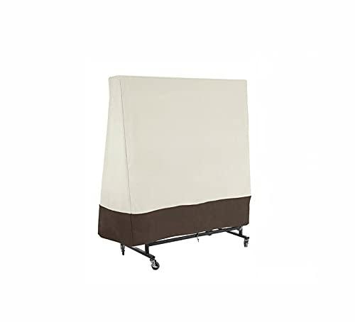 LINNJ Schutzhülle für Tischtennisplatte Universal passend Oxford Gewebe Wetterschutz 36∗85∗160 cm Beige