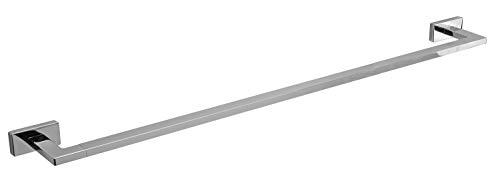 INDA Lea Handtuchhalter, Messing, Weiß, 8 x 86 x 3 cm
