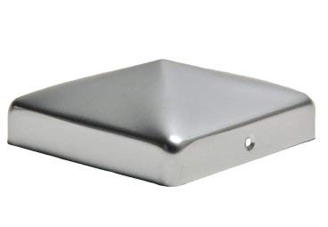 Pfostenkappe aus Aluminium Pyramide für Holzpfosten 10x10 cm inkl. VA-Schrauben Zaunkappe Pfahlkappe ALU 101x101 mm DD