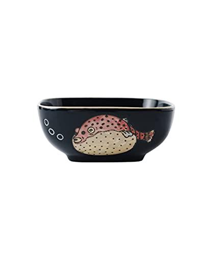 MANSIFANG Postre De Cerámica Pájaro Nido Desayuno Cereal Yogurt Bowl Creative Personalidad Cuadrado Super Lindo Lindo Dibujos Animados Tazón Vajilla (Color : Style 3)
