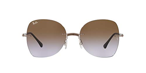 Ray-Ban 0RB8066 Gafas, BROWN ON LIGHT BROWN, 58 Unisex Adulto