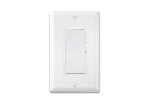 Idrabo Wall dimmer Switch, Dimmer Switch for Dimmable LED, Halogen and Incandescent Bulbs Single-Pole or 3-Way,120V AC, White