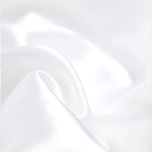 Funda de Almohada de Seda de Morera Natural,Funda de Almohada Cubierta Decorativa para Dormir Caja de Cama Simulación Seda Lujo Abrazos Colorido 2pcs-Blanco_20x36chin