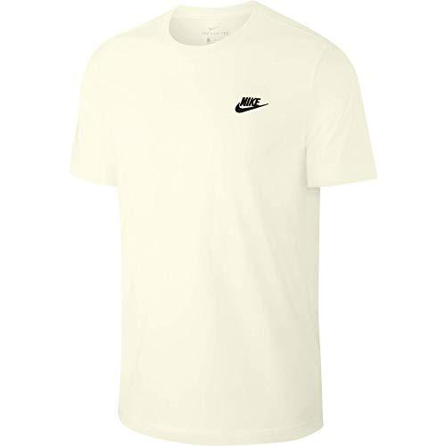 Nike Herren T-Shirt M NSW Club Tee, sail/(Black), L, AR4997