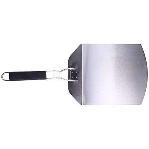FASJ Pala per Pizza in Metallo, Non assorbe Gli odori Pratico Manico Pieghevole per Pala da Pizza Comodo con Acciaio Inossidabile Sottile per la Cucina per la Famiglia