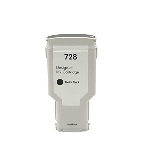 N\C Compatible con Cartucho de Tinta HP HP728 HP Designjet T830 T730 Plotter Ink Kit de Impresora de inyección de Tinta XL-Ink Compatible (Negro, Cian, Rojo, Amarillo)