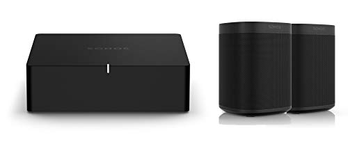 Sonos Port | WLAN Streaming für Stereoanlagen und Receiver (WLAN, AirPlay2, 12-V-Trigger) (Set mit 2X Sonos One)