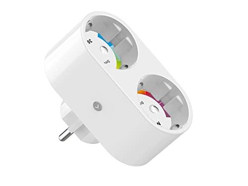 Presa Smart, Presa Intelligente WiFi Smart Plug Compatibile con Alexa e Google Home, Only for 2.4G WiFi, 16A, 230V - White