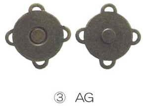 【金亀】 マグネットボタン特大18mm AG LH431803★リトルハウスS・パッチワークキルト用品