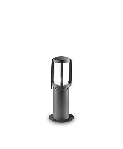Palen aluminium en glas kleur grafiet - afmetingen Ø 14,3 x h. 35 cm – 1Xe27 max. 20 W buitenpalen Perenz 5638 A.