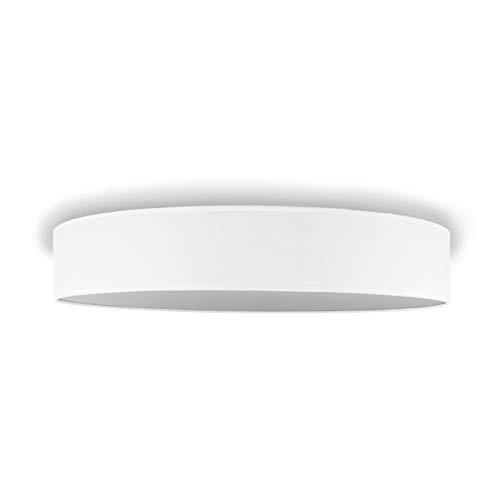 Smartwares IDE-60046 Deckenleuchte/ Textilschirm, 60 cm Ø, 4 x E27, Weiß