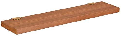 YLCJ wandplank van massief hout, wandplank met 3 niveaus, robuust (afmetingen: 400 × 130 × 25 mm) 400×130×25mm