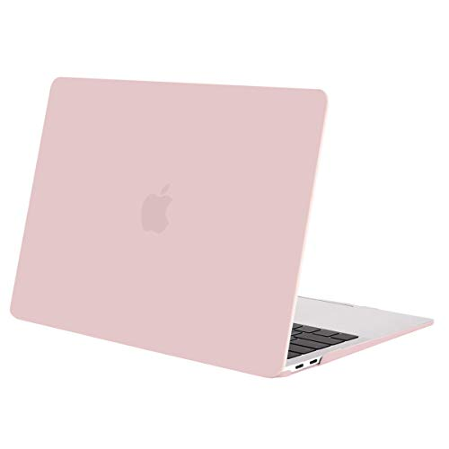 MOSISO MacBook Air 13 inch Case 2020 2019 2018 Release A2337 M1 A1932 A2179 Retina Display, Plastic Hard Case Shell Cover Only Compatible with MacBook Air 13 inch with Touch ID, Rose Quartz