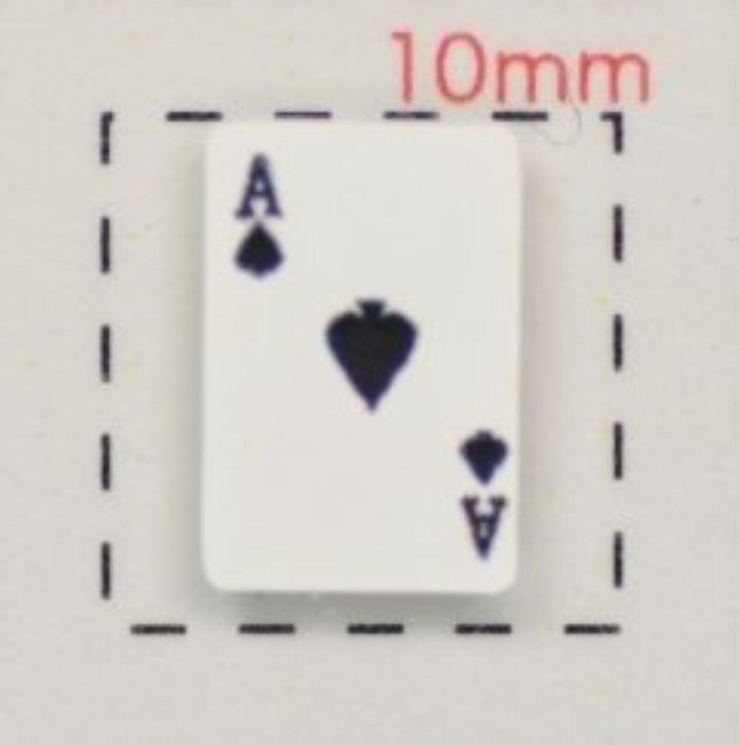 シンボル異議用心深い【トランプネイルシール】カード(1)スペードA/1シート12枚入