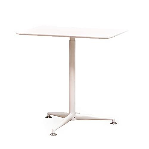 Pneumatischer mobiler Laptop-Schreibtisch, stehender Schreibtisch, höhenverstellbares Lebensmittelablage, Walnussholz-Farbpension, Schreibtisch mit dicker Basis, geeignet für Zuhause und Büro, weiß
