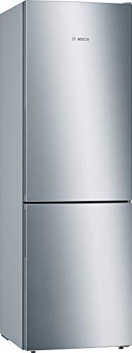 Bosch Elettrodomestici KGE36ALCA Serie 6 Combinazione freezer indipendente/A+++ / 186 cm / 161 kWh/Jahr/inox-look / 217 L refrigeratore / 95 L freezer / superraffreddamento / BigBox