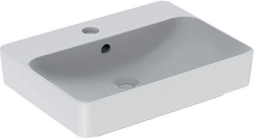 Geberit VariForm Aufsatzwaschtisch rechteckig, 600x450mm, mit Hahnloch, mit Überlauf, Farbe: Weiß, mit KeraTect - 500.780.00.2
