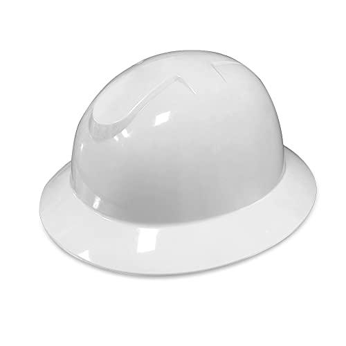 HYCOPROT Casco de seguridad con trinquete 6 puntos Hard Hat Ventilado Cabeza ajustable Protección Casco Construcción Industrial Hard Hat (blanco) ✅